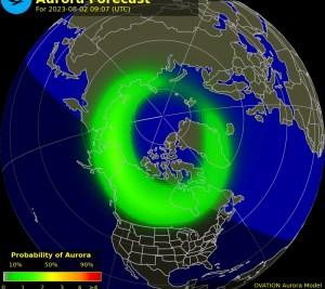 Auroras no Hemisfério Norte