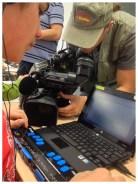 Detalle de la grabación de la línea Braille de Jairo