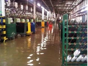 Inundacion en una fábrica