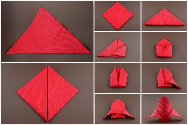 Papierservietten Falten Anleitung Einfach
