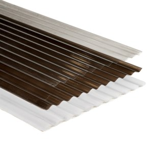 lámina policarbonato acanalada, construcción