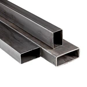 tubo negro estructural rectangular, construcción