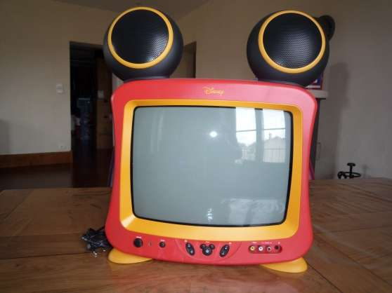 tv couleur mickey 36 cm ave