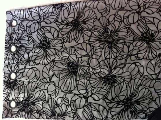 double rideaux gris et noir 2 rideaux