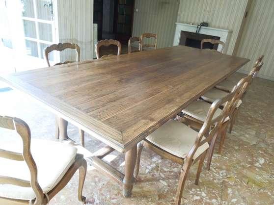 belle table de ferme rustique ancienne