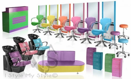 mobilier coiffure pas cher rainbow set