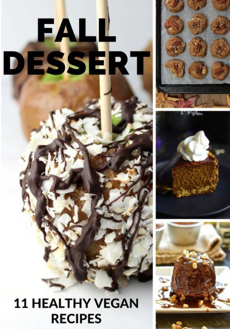11 healthy vegan fall dessert recipes