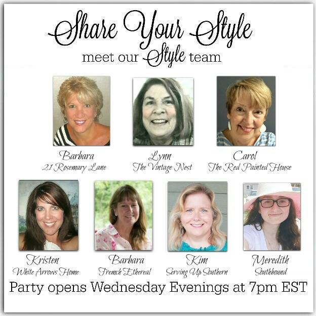 An image of the seven co-hosts of the Share Your Style parties.