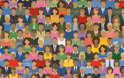 Homme-Femme-Foule-Groupe