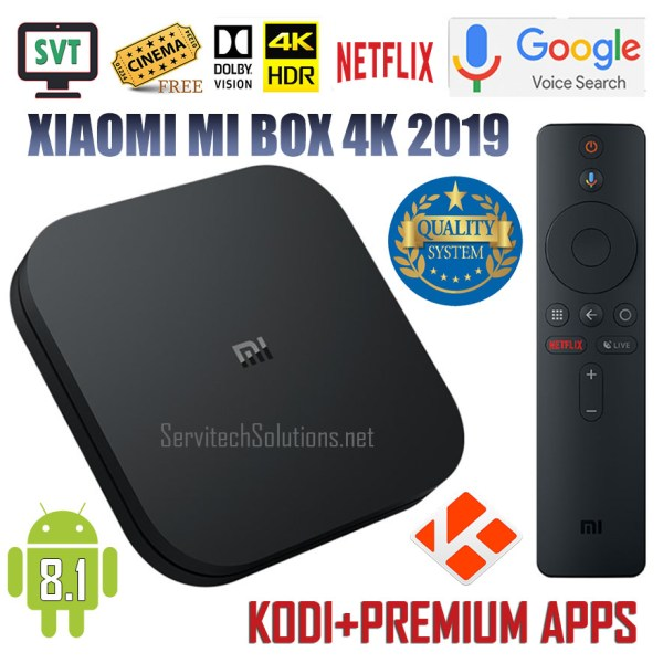 XIAOMI ANDROID TV MI BOX S 4K 2019 JAILBROKEN UNLOCKED FULLY LOADED KODI VPN