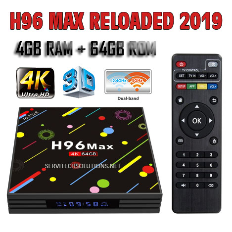 Best Deal H96 Max 2019 Top TV Box Android 8 1 4GB 64GB Cut the cable