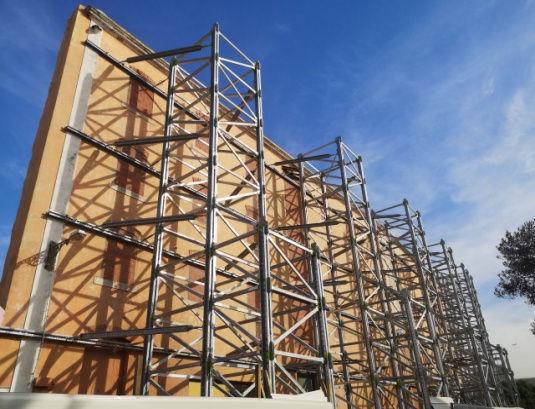 Montagem das Torres SHORFLEX® HDFigura 11: Vista torres SHORFLEX® HD