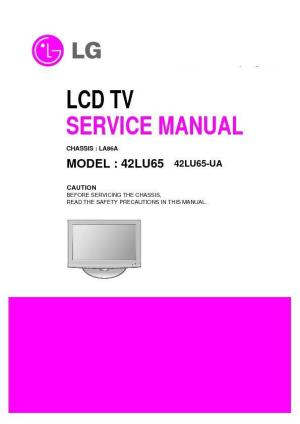 LG 42LU65 (CHASSIS:LA86A) Service Manual — View online or