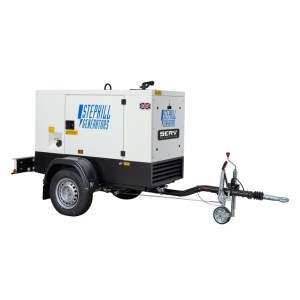 20 kVA Silenced Road Tow Diesel Generator - SERV Plant Hire