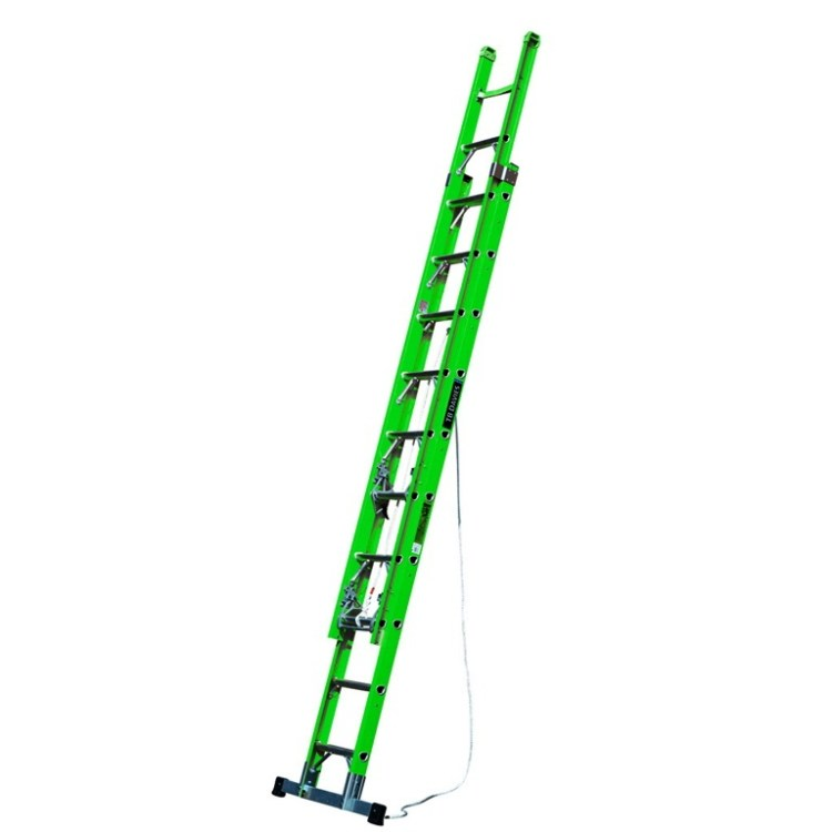 13 to 25 ft Double-extension GRP Ladder - SERV Plant Hire