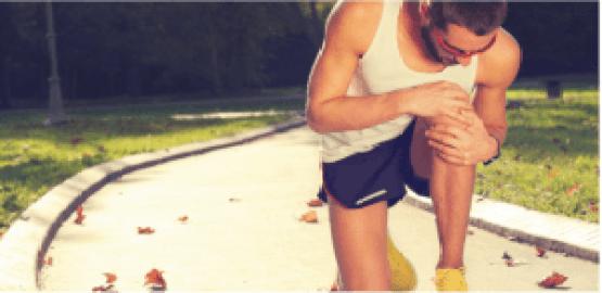 Sportiv cu durere de genunchi