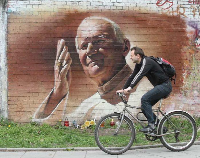 Jan Paweł II mural
