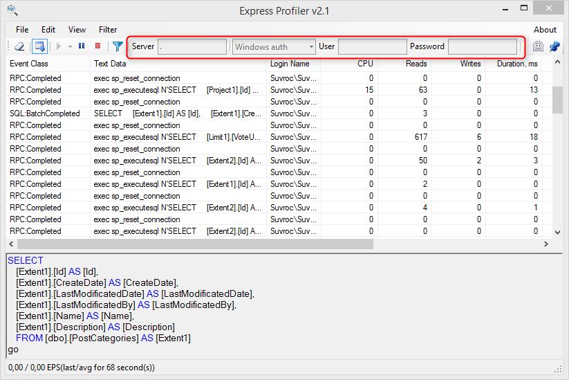 Express Profiler - free tool for SQL Server profiling