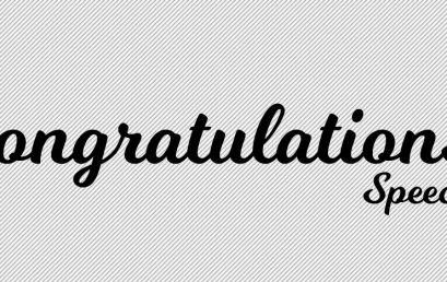 Congratulations/ Speech