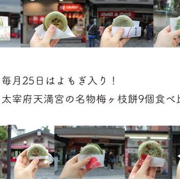 毎月25日限定で食べられる福岡太宰府天満宮の名物、「よもぎ入り梅ヶ枝餅」を食べ比べ!