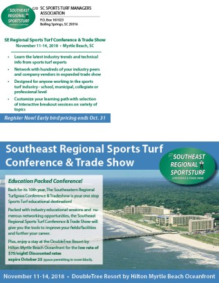 2018 SE REGIONAL SPORTS TURF CONFERENCE8