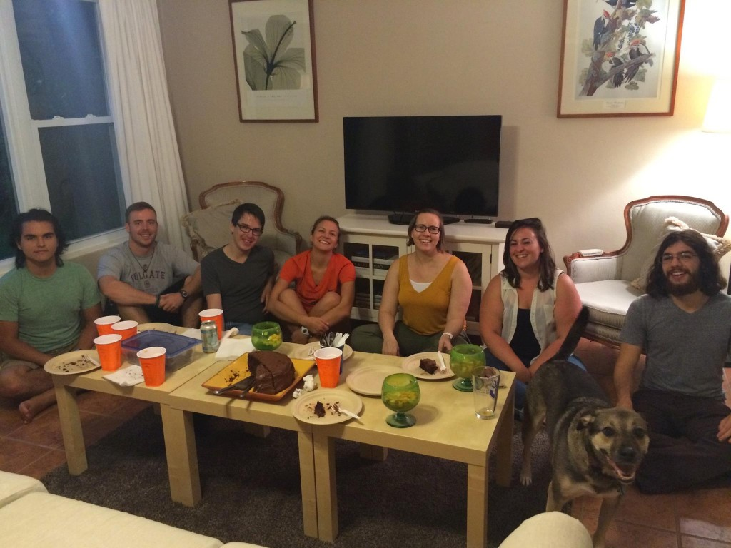 Lab Fall 2015. L to R: Rodrigo, Chris, Jerald, Sally, Emily, Lauren, Allen