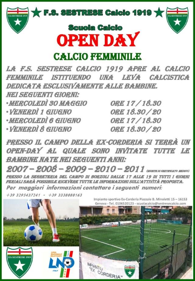 OPEN DAY calcio femminile