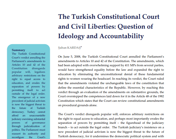 The Turkish Constitutional Court and Civil Liberties