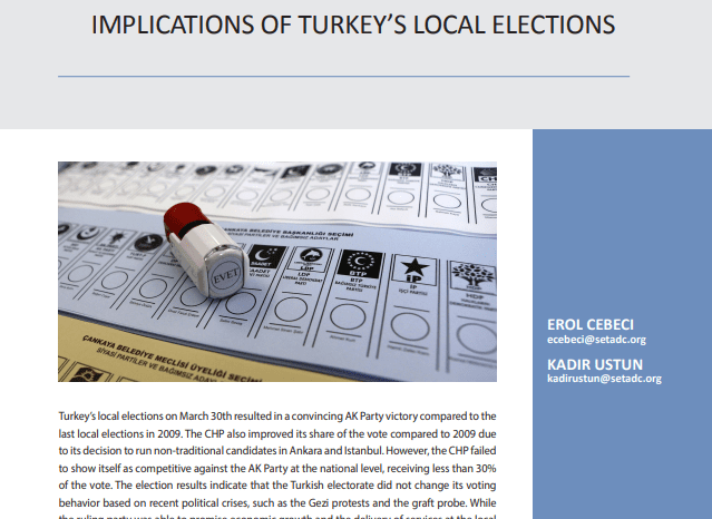Implications of Turkey's Local Elections