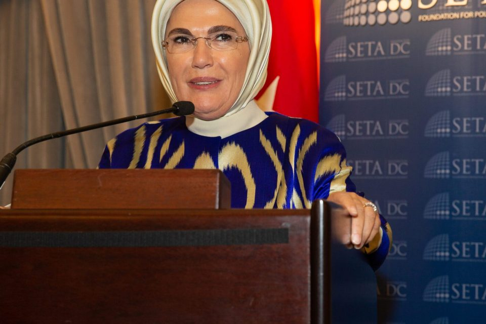 Turkey's First Lady Highlights Turkey's Work to Assist Refugees in New York City