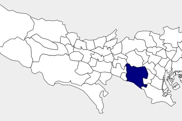 世田谷区の位置