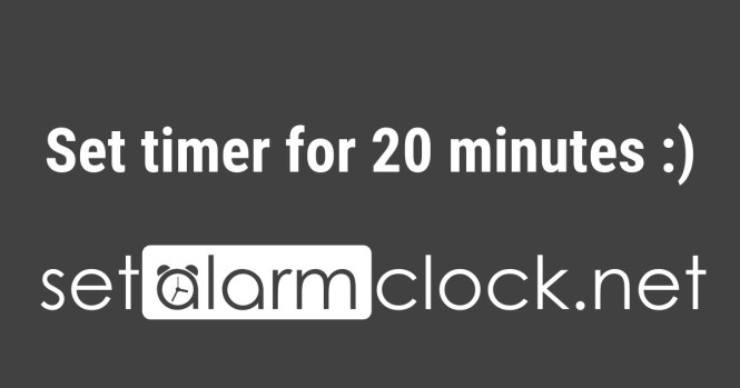 Set Timer For 20 Minutes