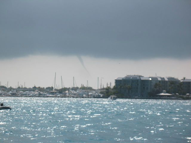 Waterspout over Key West