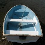 """New thwart and reinforcing for the """"new"""" fiberglass dinghy"""
