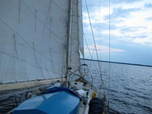 Sailing north on the Neuse River
