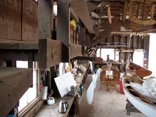 The workshop at Gannon and Benjamin in Vineyard Haven