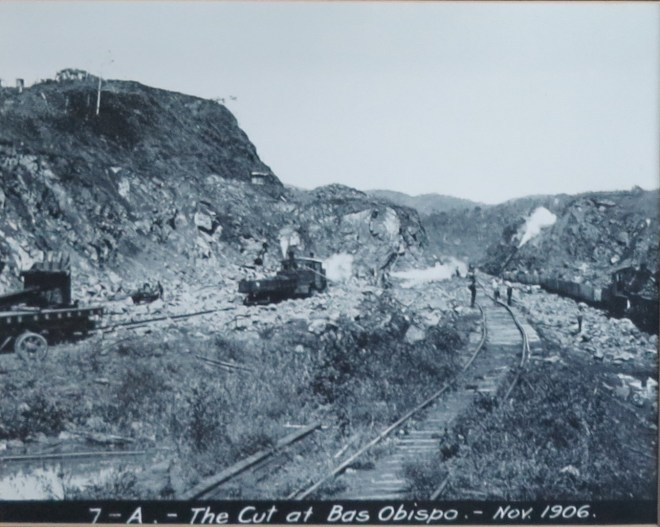 Panama Canal Cut at Bas Obispo