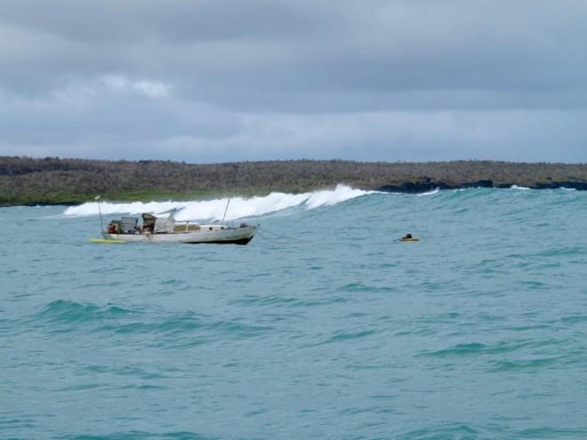 A rough day at anchor in Puerto Ayora, Santa Cruz Island in the Galapagos.