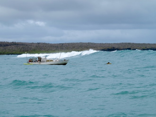 A rough day at anchor in Puerto Ayora, Santa Cruz Island in the Galapagos.