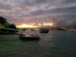 Puerto Ayora cloudy sunset