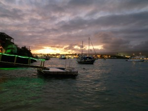 Puerto Ayora cloudy sunset