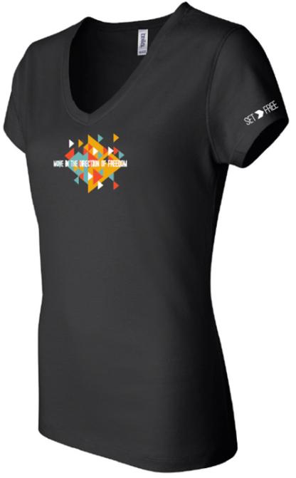 6005F black set free movement bydfault t-shirt sleeve