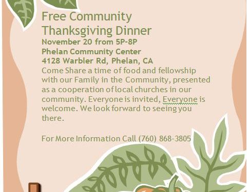Thanksgiving Dinner November 20th