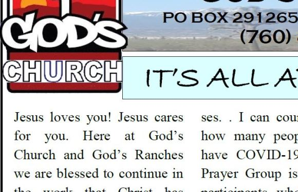 God's Ranch April Newsletter!