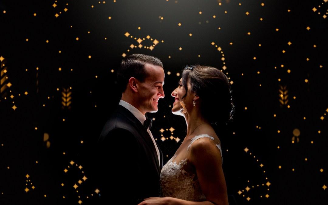 couple at columbus ohio westin wedding