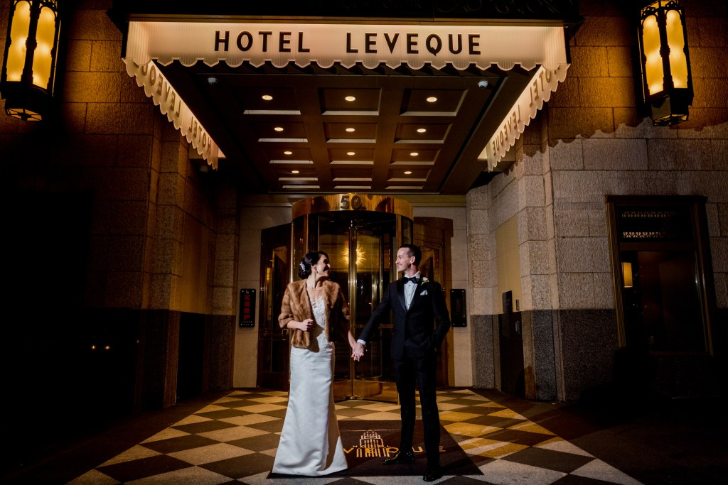 couple at hotel leveque