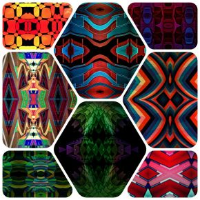 13117 Kaleidoscopic Fractal Humanoid Faces