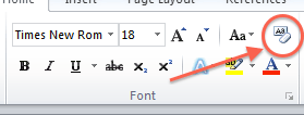Word Clear Formatting Button