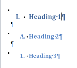 he three headings