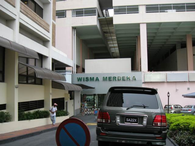 Enterance to Wisma Merdeka from Hyatt Hotel